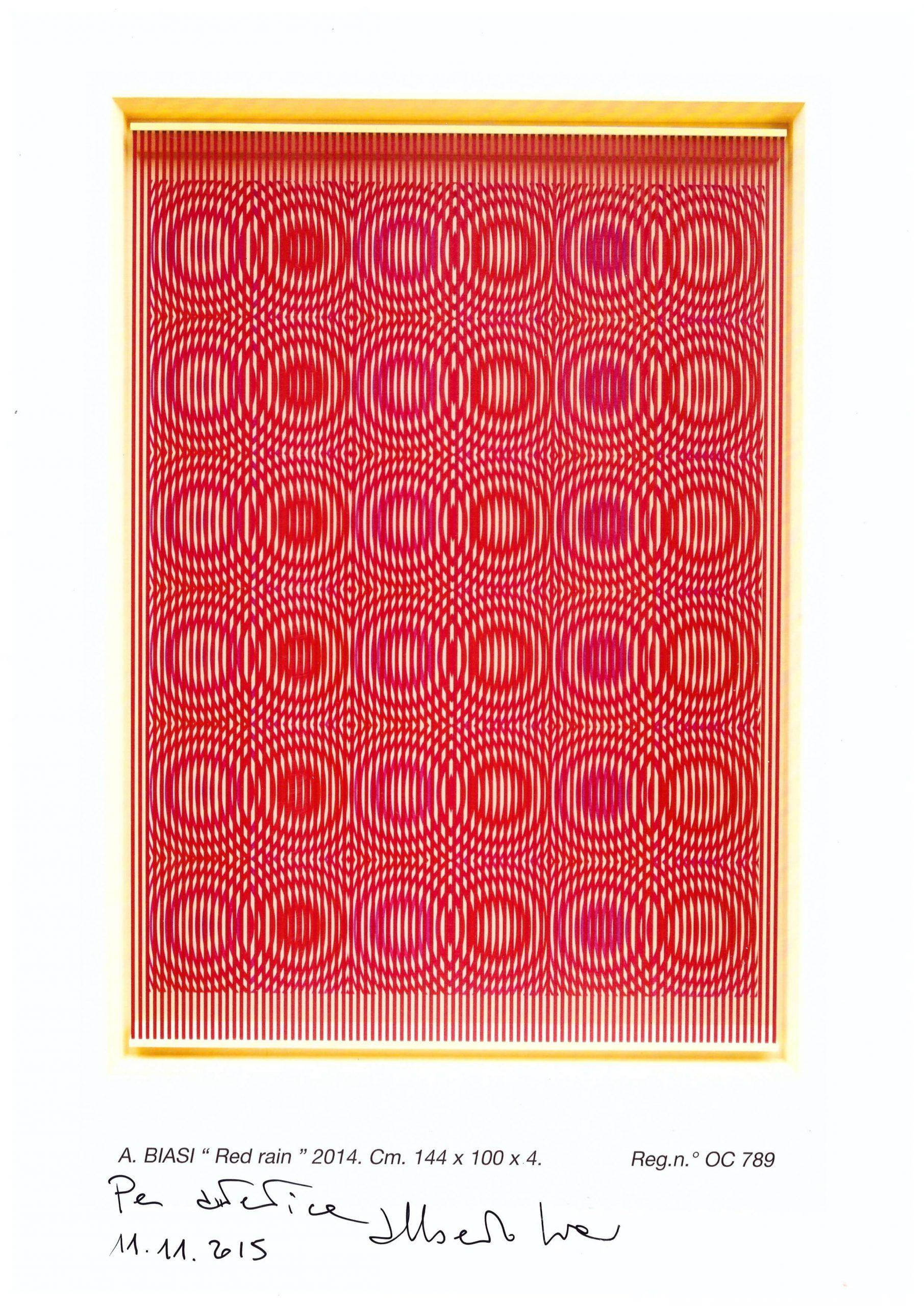 Red Rain, 2014 – Alberto Biasi