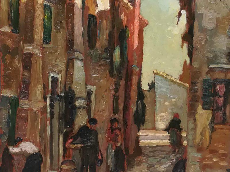 Calle di Burano, anni 20 – Eugenio Bonivento