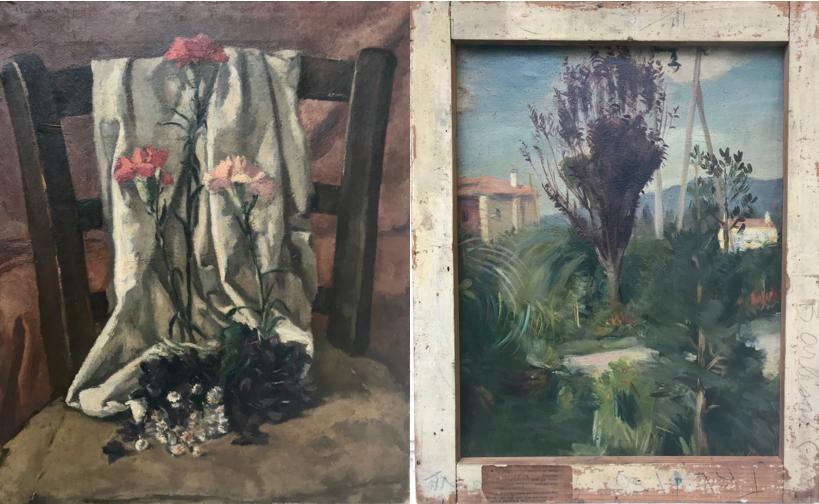 Natura morta e paesaggio (recto and verso)